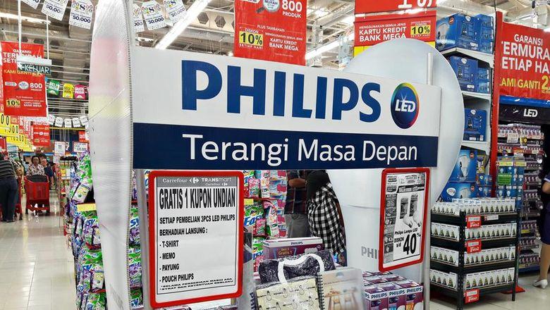 Diskon 40% Philips Lampu LED di Transmart Carrefour