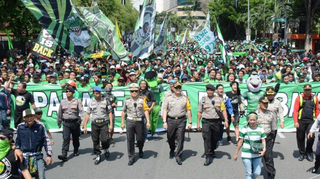 Polisi Imbau Bonek Santun dan Tertib Selama di Bandung