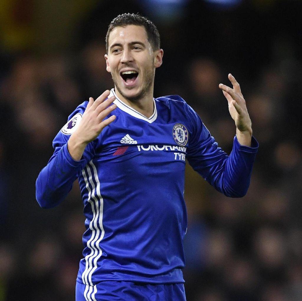 Bukan soal Statistik, Hazard Ingin Nikmati Permainan dan Bawa Chelsea Menang