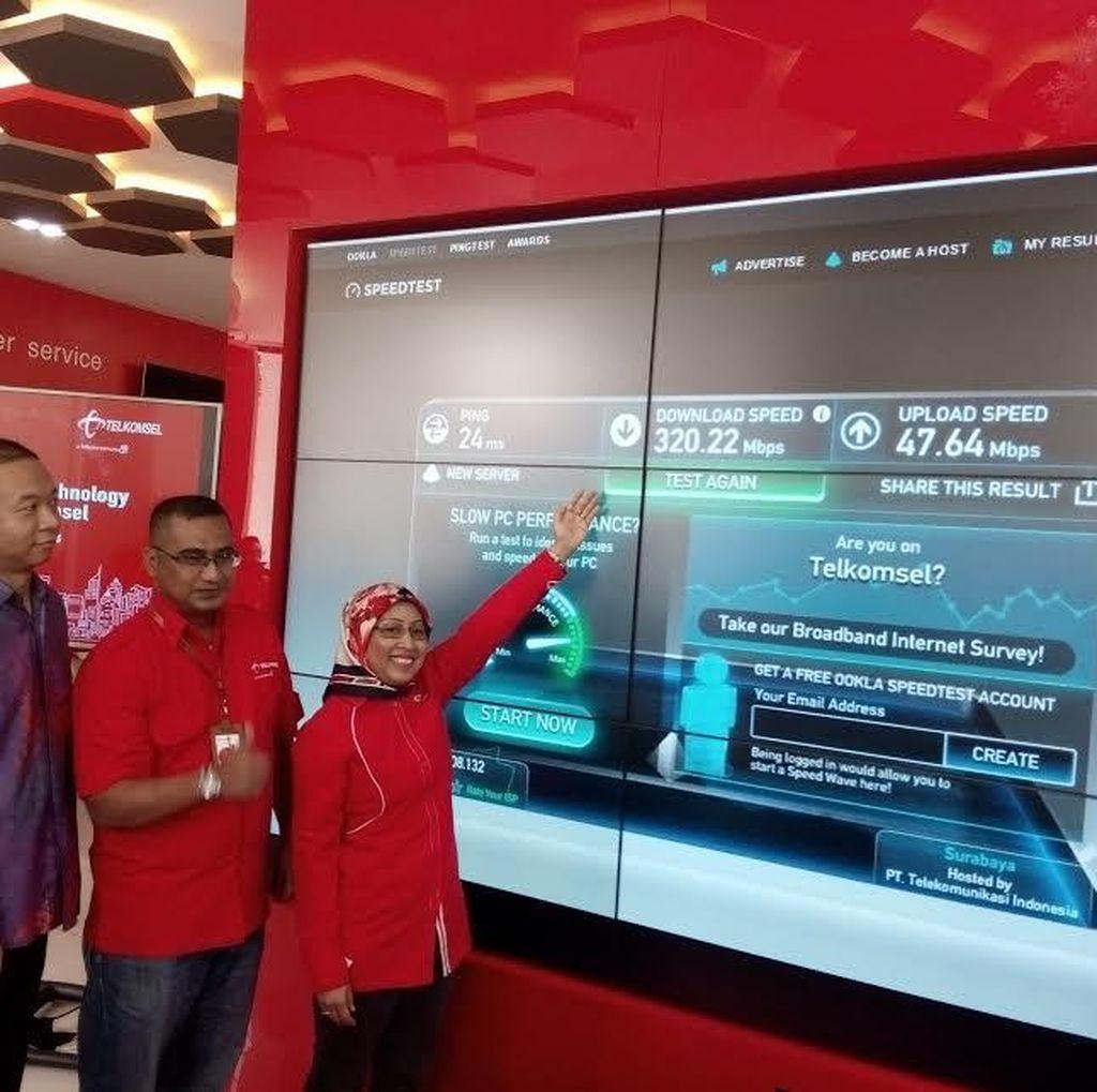 Telkomsel Mulai Pemanasan Jaringan 4,5G di Surabaya
