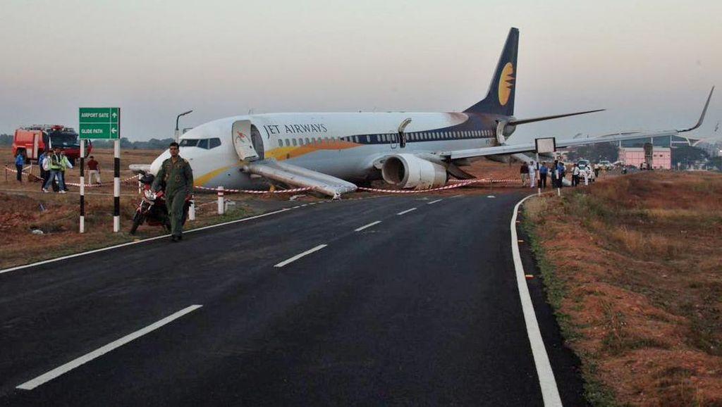 Jet Airways Tergelincir di India