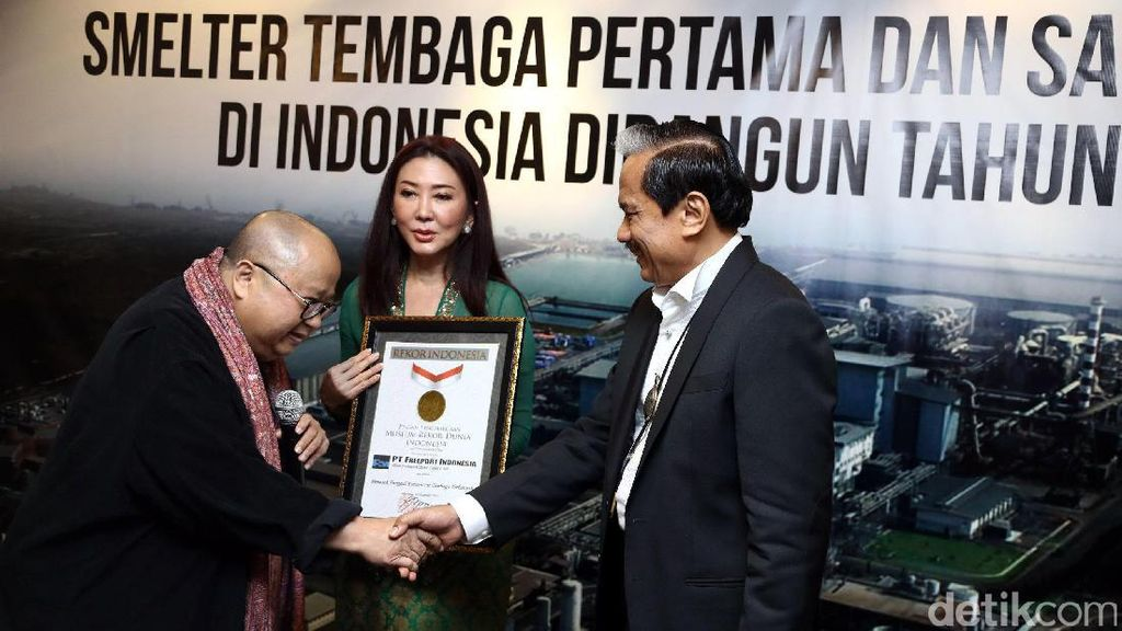 Freeport Indonesia Raih 2 Rekor MURI