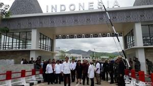 Jokowi Resmikan PLBN Motaain