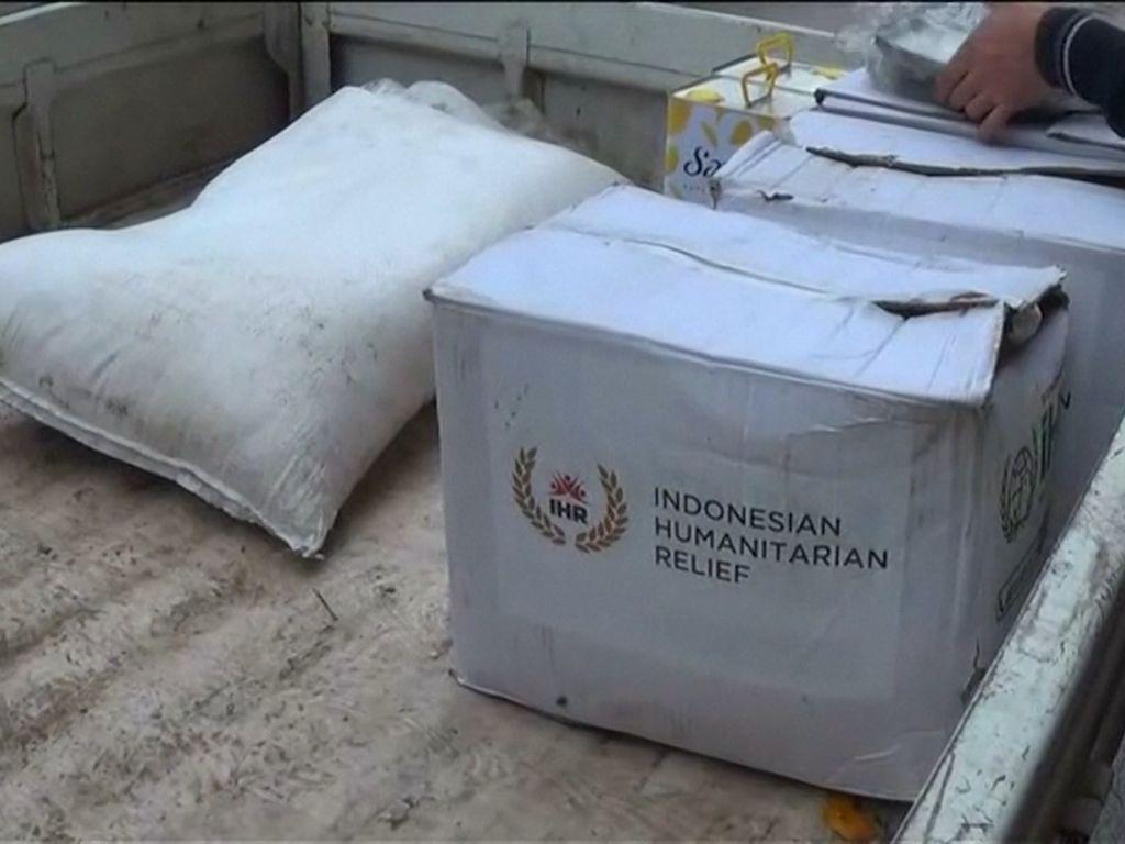 Boks Bantuan Indonesia di Aleppo