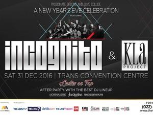 Tahun Baru Bersama Incognito dan Kla Project di Trans Luxury Hotel