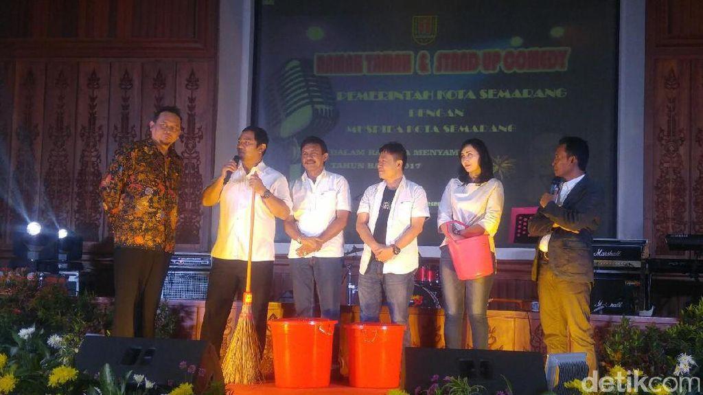 Kocaknya Wali Kota Semarang Stand Up Comedy di Depan Cak Lontong