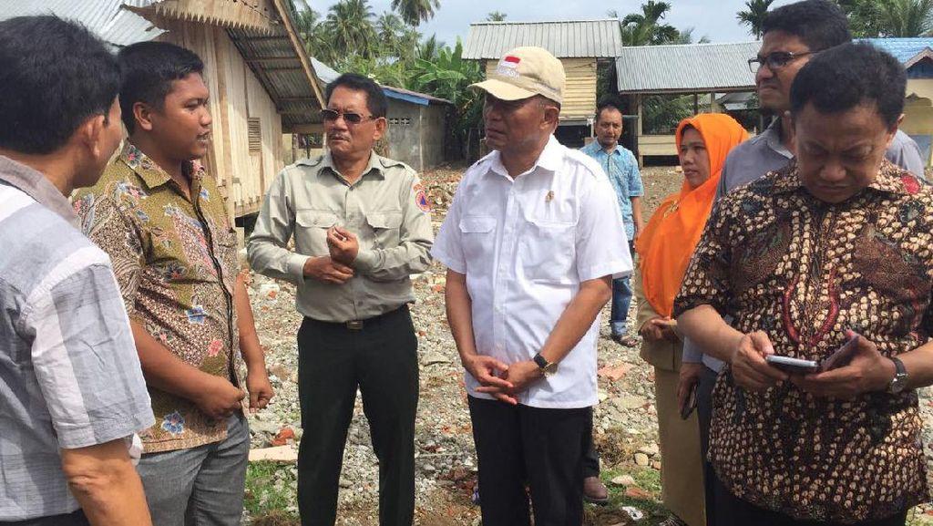Mendikbud Minta KemenPUPR Percepat Pembangunan Sekolah di Pidie Jaya