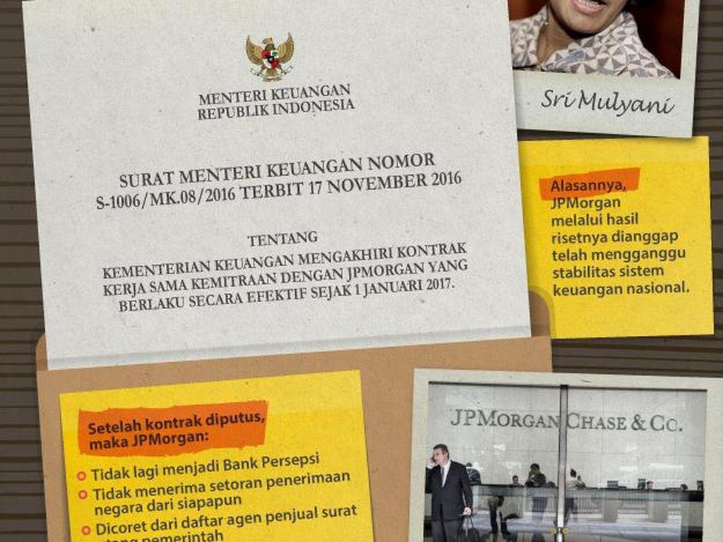 Sri Mulyani Putuskan Hubungan dengan JPMorgan, Ini Kata Gubernur BI