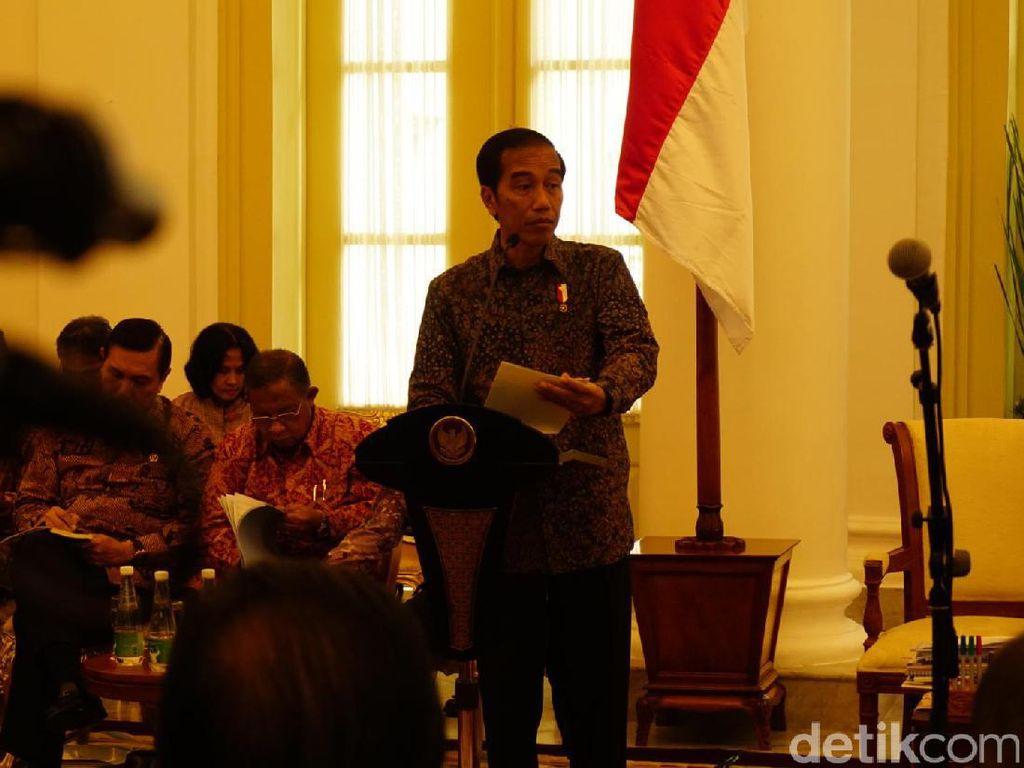 Presiden Jokowi Gelar Sidang Kabinet Paripurna Perdana di 2017