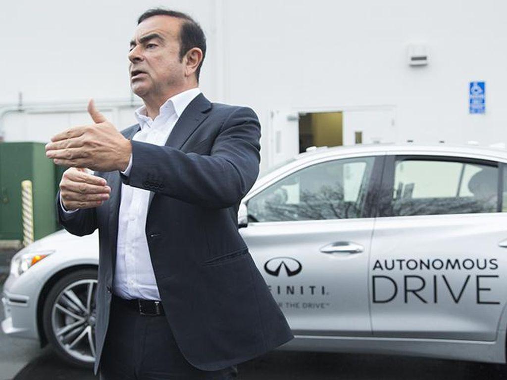 Bos Nissan Jajal Langsung Mobil Otonom