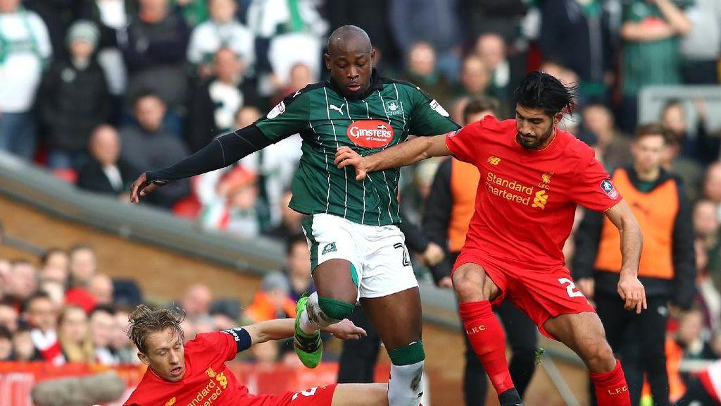 Belum Ada Gol di Babak 1 Liverpool vs Plymouth