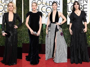 <i>Sexy in Black</i>!Para Selebriti Cantik di Golden Globe 2017