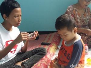 Kegiatan Bocah Marcel dan Kakak di Rumah Singgah Dinsos Tangerang