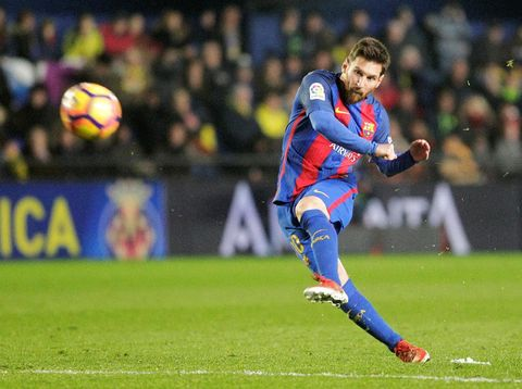 <i>Free Kick</i> Messi Selamatkan Barca dari Kekalahan atas Villarreal