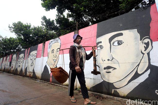 Mural presiden ri hiasi jalan legok bekasi for Mural kalijodo