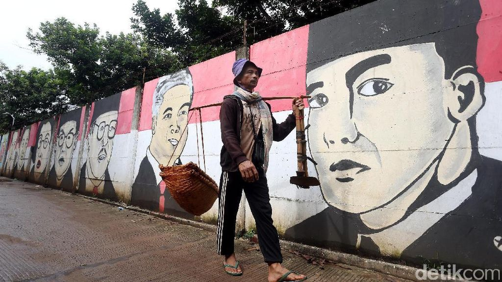 Mural Presiden RI Hiasi Jalan Legok Bekasi