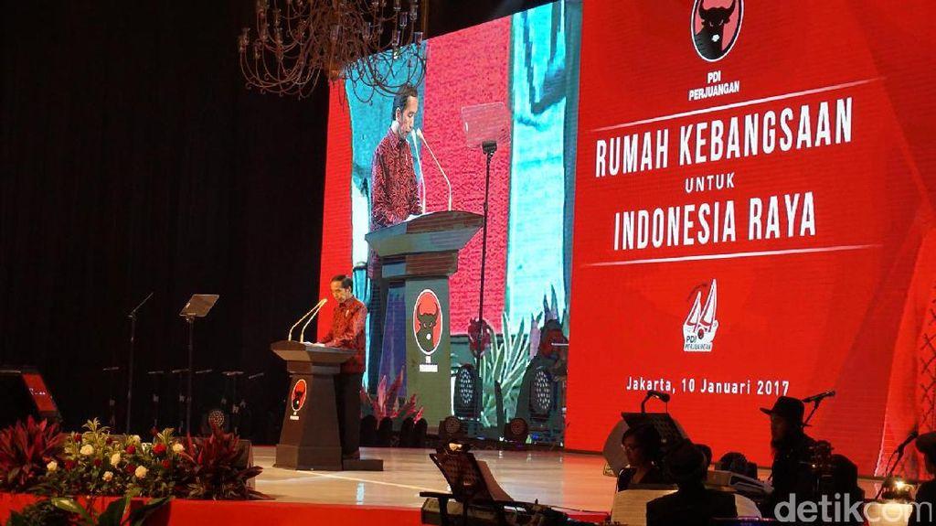 Jokowi Paparkan Capaian Ekonomi RI di HUT PDI-P