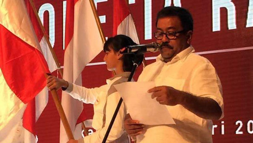 Rano Karno Bacakan Dedication of Life di HUT PDIP
