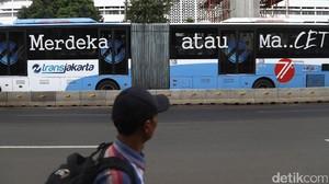 Aksi 313, Rute Bus TransJ Sekitar Monas akan Dialihkan