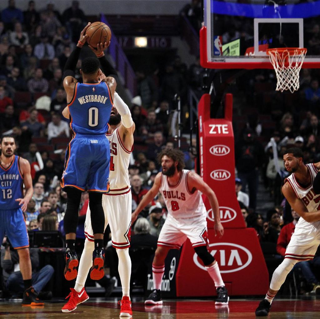 Thunder Sungkurkan Bulls di Chicago