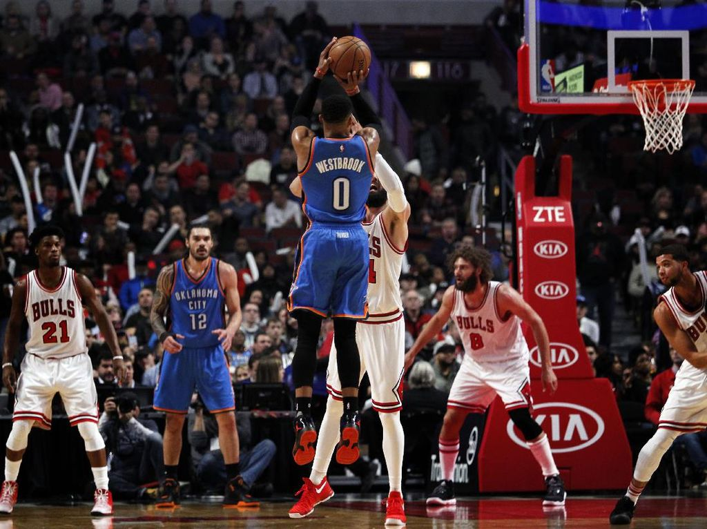 Thunder Sungkurkan Bulls di Chicago