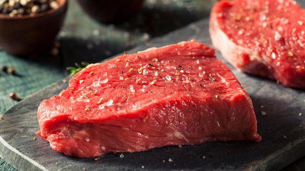 Daging merah mengandung zinc.