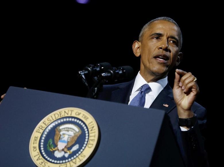 Pidato Perpisahan, Obama Janjikan Transisi Kekuasaan Damai