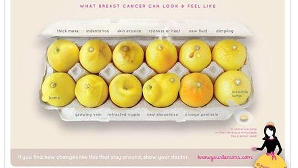 Alasan di Balik Penggunaan Lemon untuk Kampanye Kanker Payudara