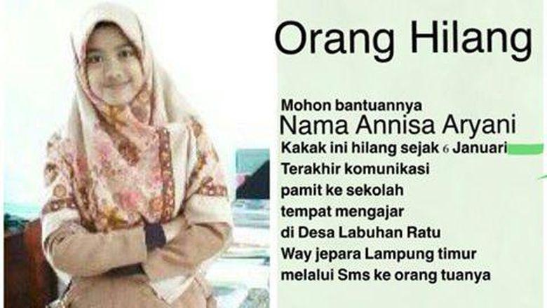 Guru Cantik di Lampung Annisa Aryani Sudah 9 Hari Hilang