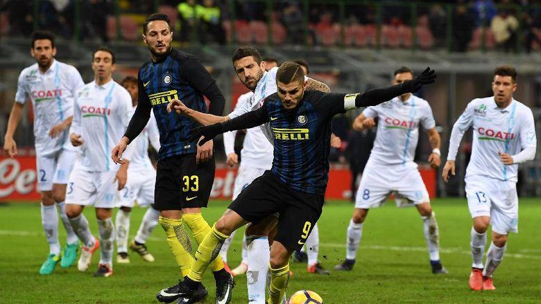 Inter Milan Menang Atas Chievo Lewat Gol-Gol di Menit Terakhir