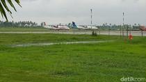 Bupati Anas Cek Bandara Blimbingsari Usai Pesawat Latih Terbakar