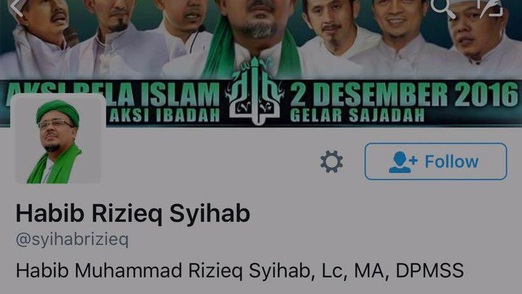 Akun Habib Rizieq dan DPP FPI Di-suspend, Ini Penjelasan Twitter