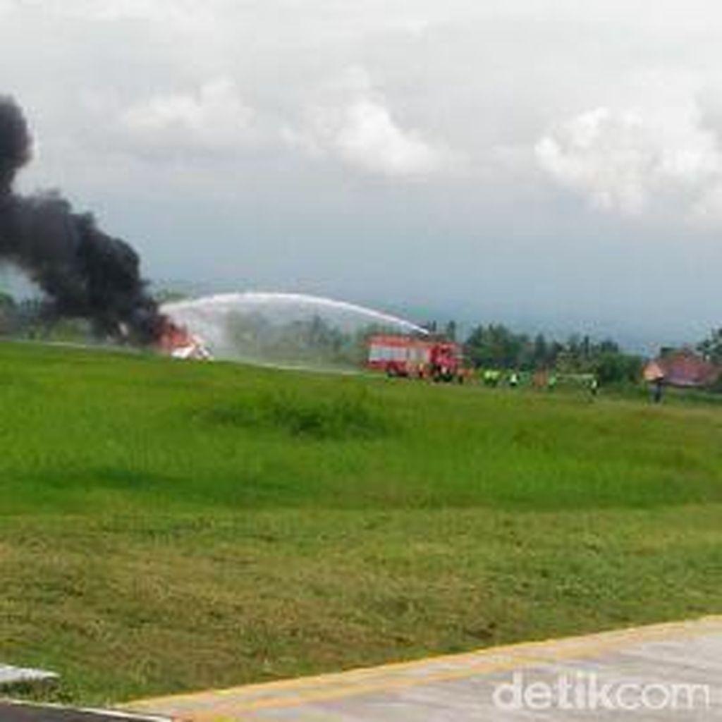 Sebelum Terbakar, Pesawat Latih Milik MUFA Alami Ballooning