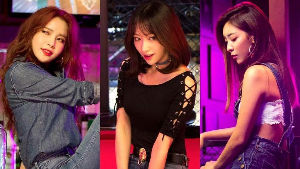 Koreografi Seksi Hani, Luna, dan Solar di Honey Bee