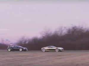 Pertarungan Epik Mobil Super Listrik Versus Bugatti Veyron