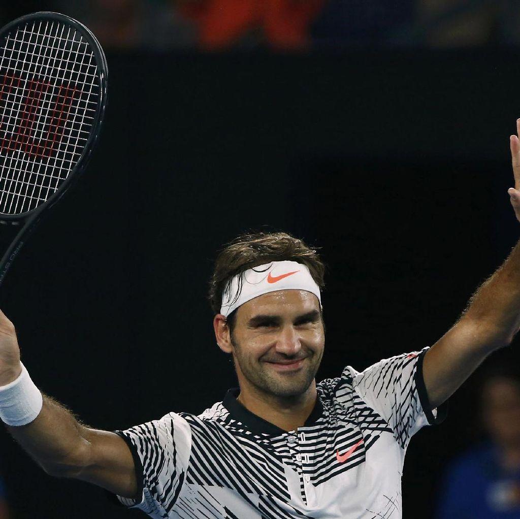 Taklukkan Petenis Austria, Federer Melaju