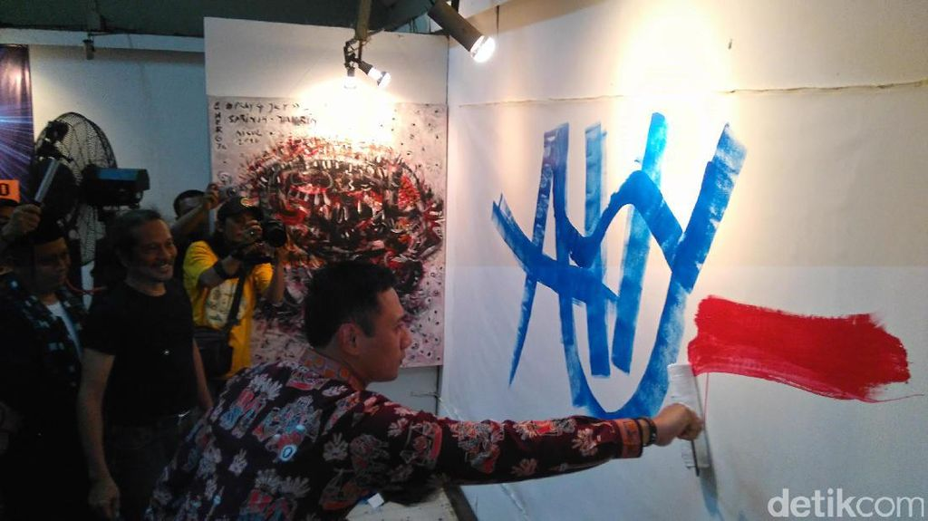 Namai Lukisannya Energi Patriot, Agus: Agar Jakarta Lebih Fresh