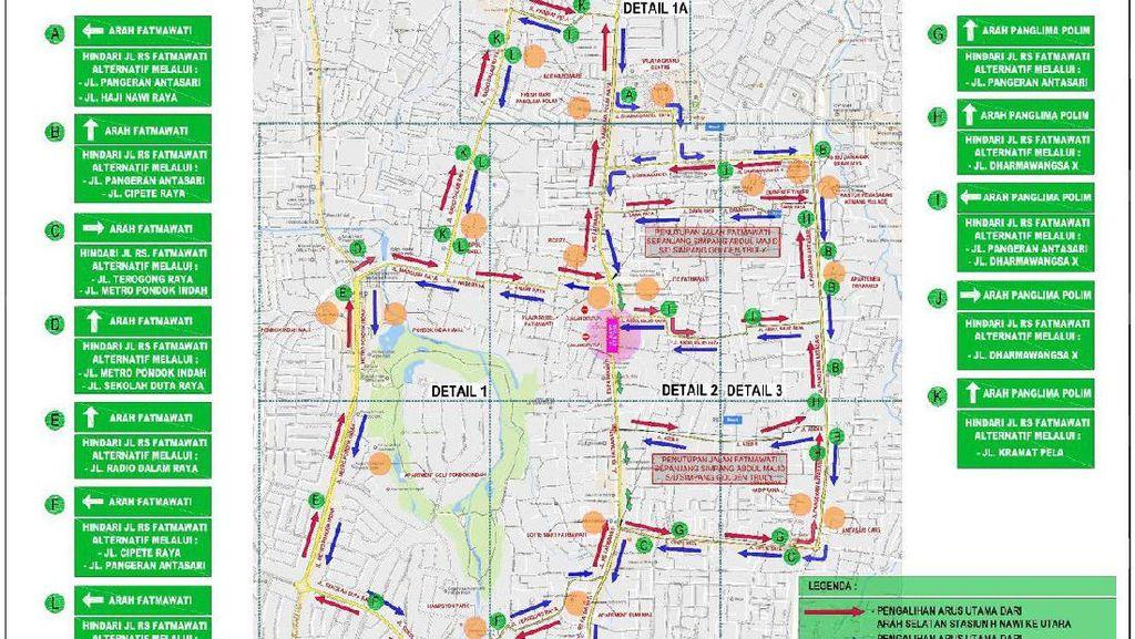Jl Fatmawati akan Ditutup untuk Proyek MRT, Anda Bisa Lewat Sini