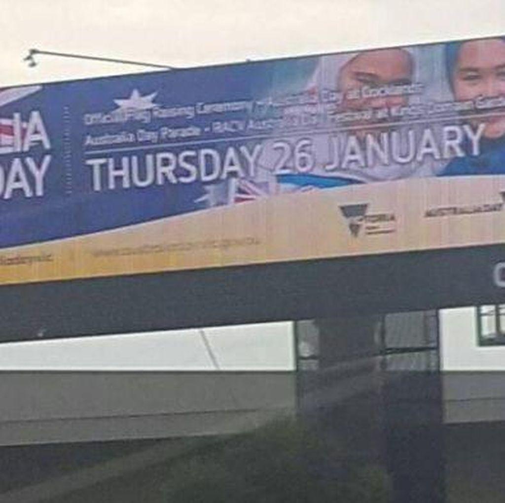 Billboard Wanita Berhijab Diturunkan di Melbourne