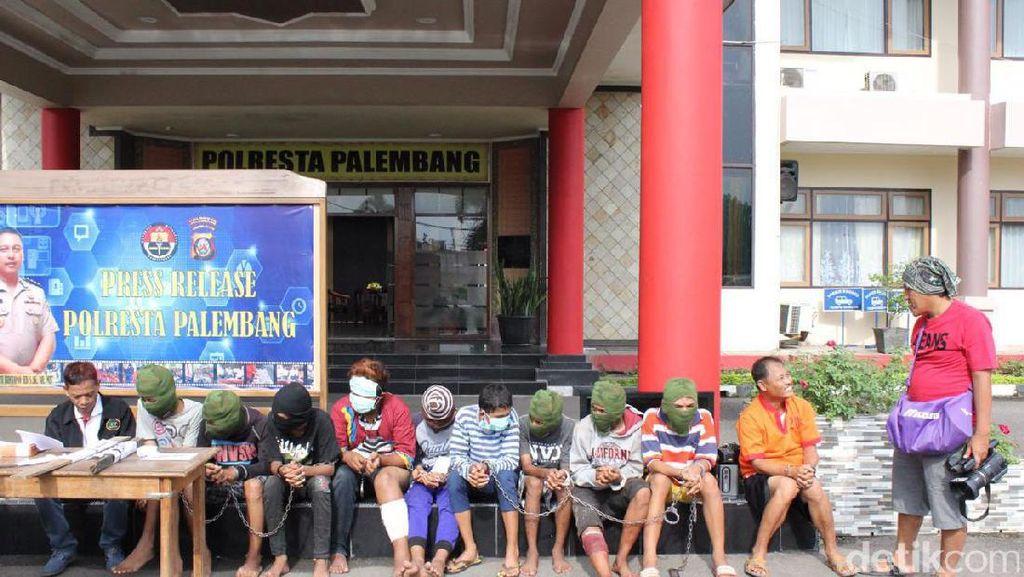 Polisi Tangkap 9 Begal di Palembang, Statusnya Masih Anak-anak