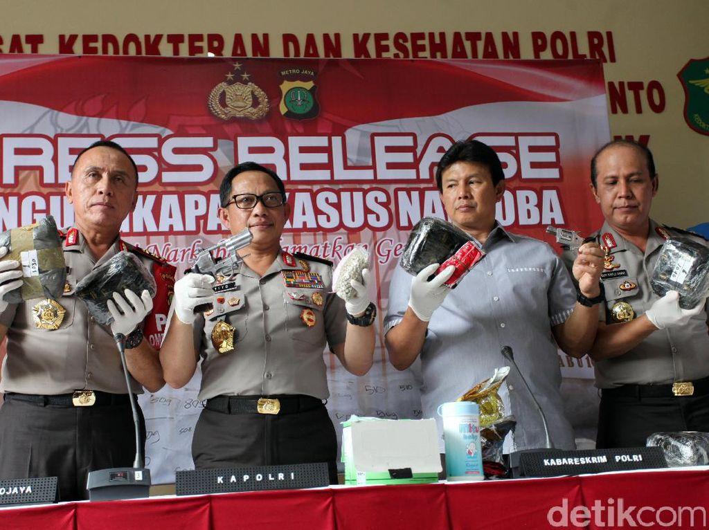 Polisi Gulung Bandar Narkoba Jaringan Malaysia