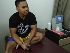 Lutut Bengkak, Eko Yuli Jalani Terapi