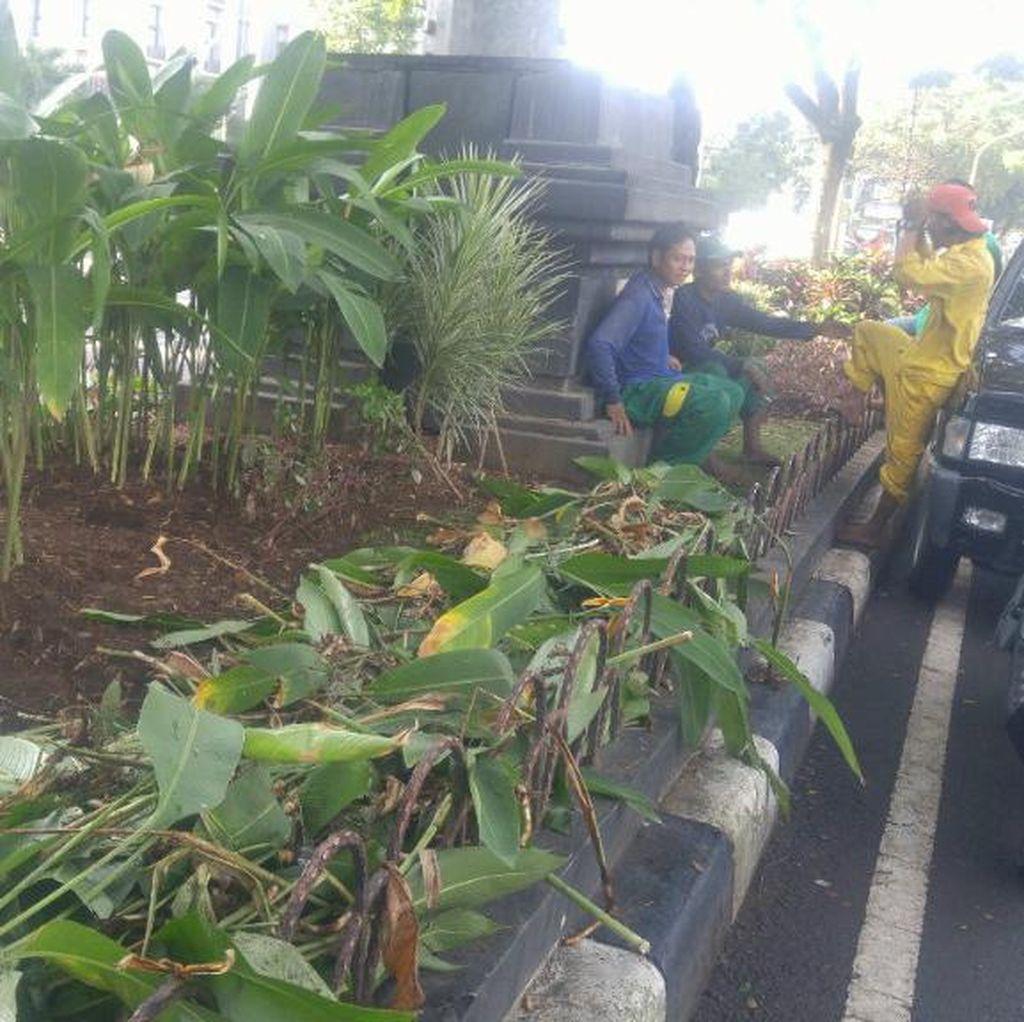 Butuh Rp 50 Juta Memperbaiki Taman Rusak Akibat Ulah Pendemo