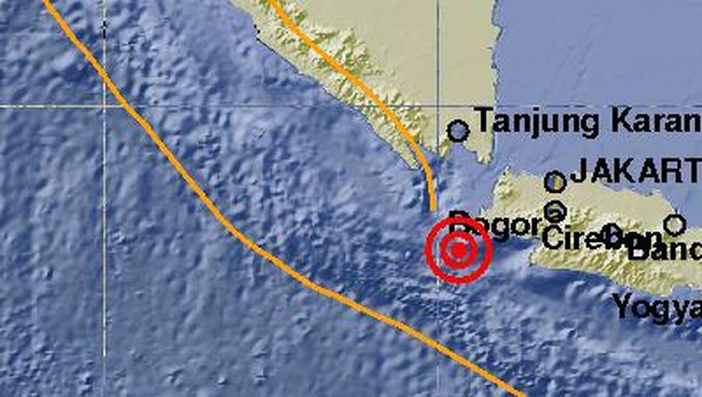 Gempa 5,2 SR Guncang Lebak, Tidak Berpotensi Tsunami