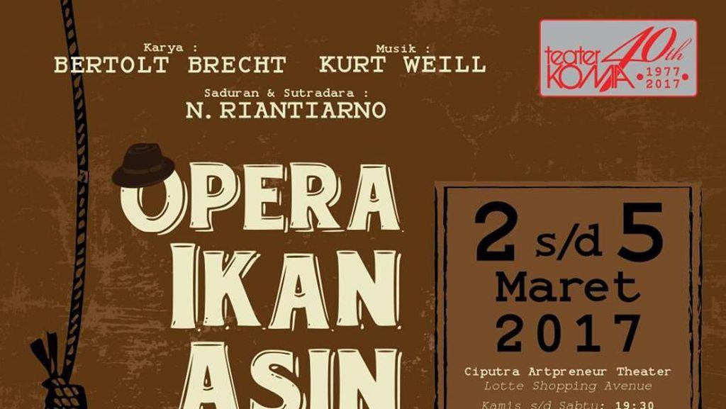 Tiket Early Bird Pentas Teater Koma 'Opera Ikan Asin' Dibuka 20 Januari