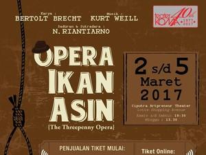 Tiket <i>Early Bird</i> Pentas Teater Koma Opera Ikan Asin Dibuka 20 Januari