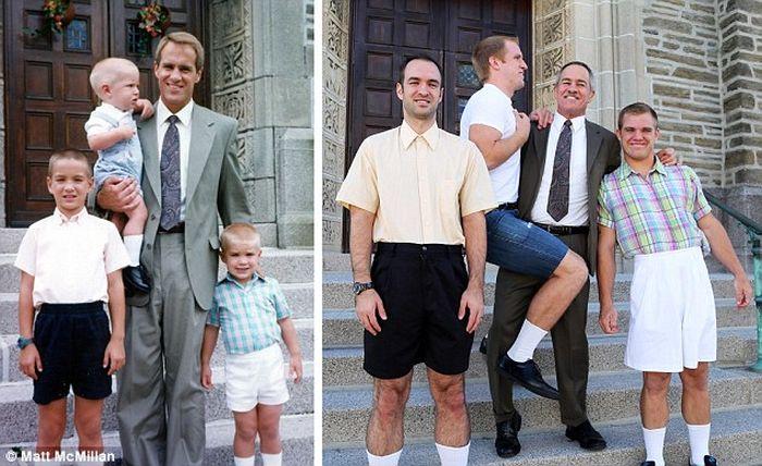 Berpose bersama ayah seperti di masa lalu. Foto: Istimewa