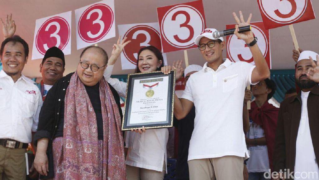 Blusukan ke 1.000 Titik di Jakarta, Sandiaga Dapat Rekor MURI