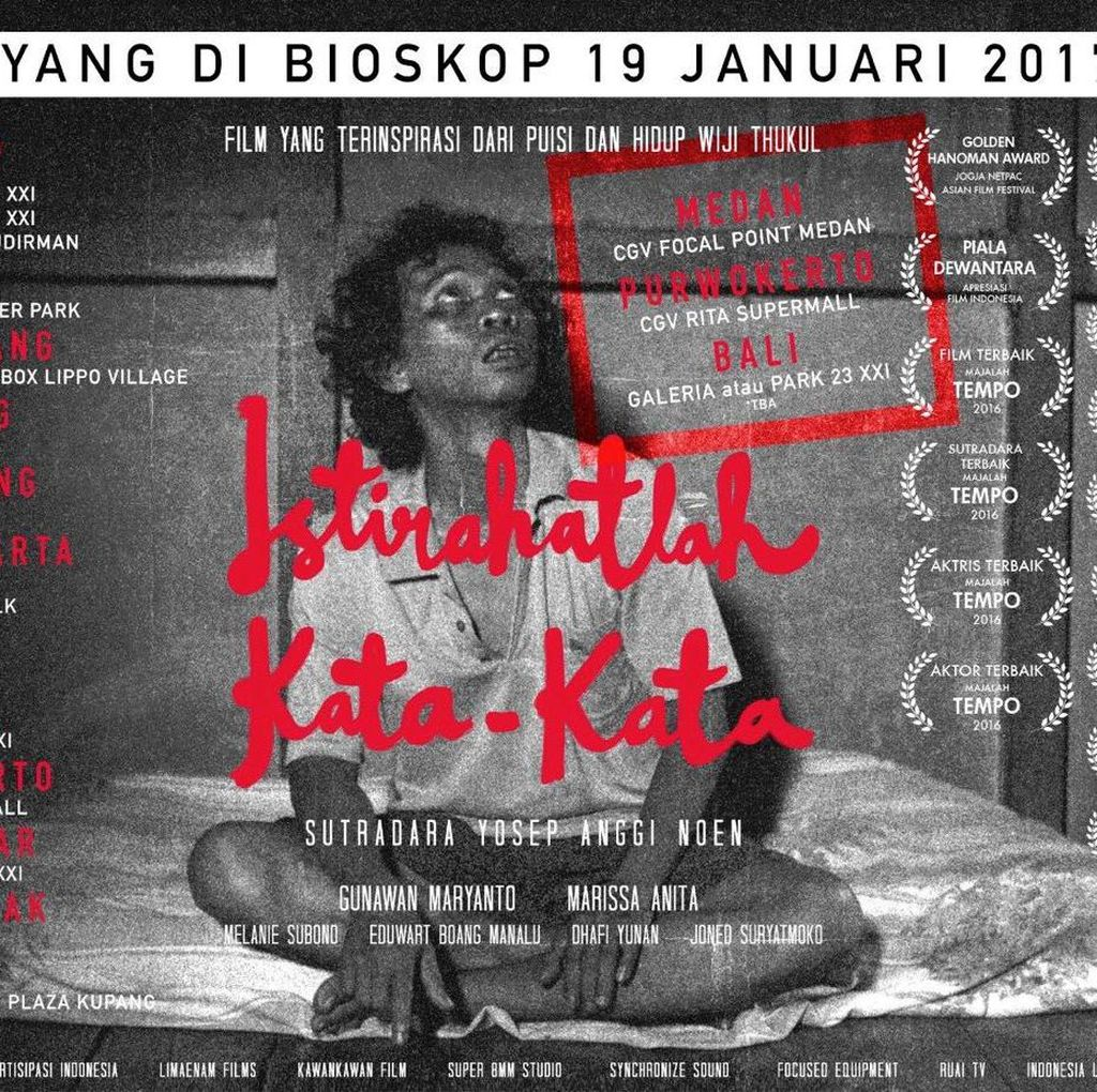 Diserbu Penonton, Film tentang Penyair Wiji Thukul Tambah Layar