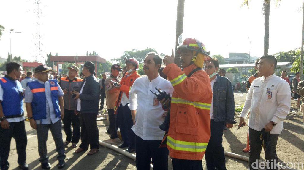 Kebakaran Pasar Senen, Wali Kota: Petugas Terus Upayakan Pemadaman